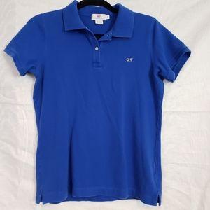 Vineyard Vines child's blue classic polo sz M